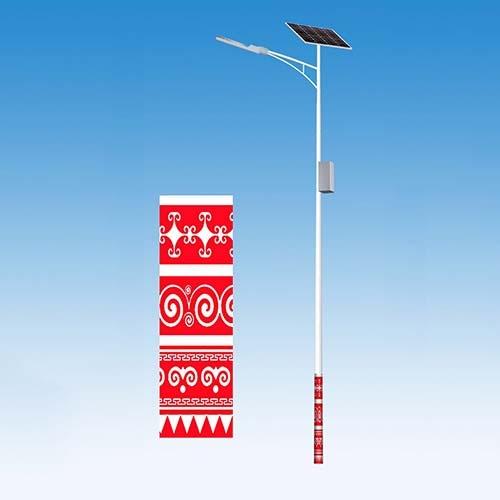 红白相间民族特色太阳能路灯