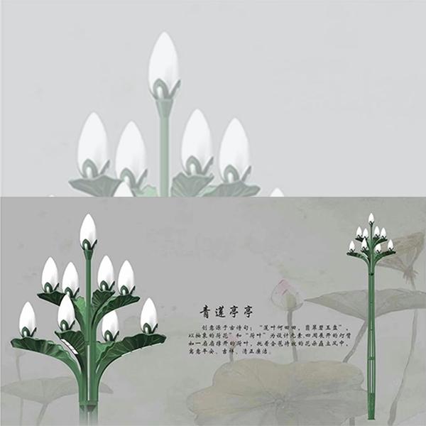 玉兰灯-青莲亭亭